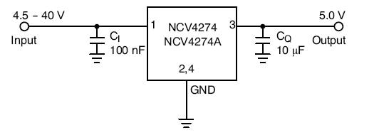 NCV4274: Linear Voltage Regulator, 400 mA